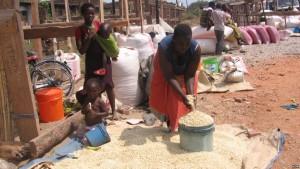 Traders selling maize in Karonga district, Malawi. Source: VOA / T. Kumwenda