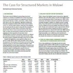 Policy Note 29: The Case for Structured Markets in Malawi